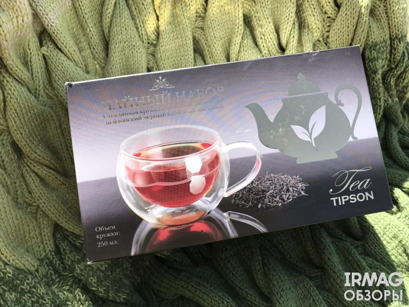Набор чайный Tipson зеленый чай (100 г) + кружка