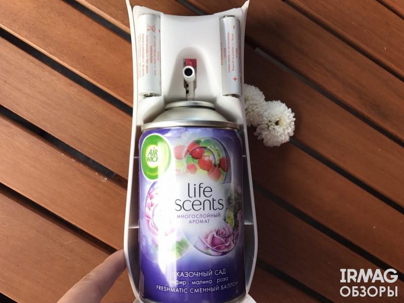 Комплект освежителя воздуха Airwick Freshmatic Life Scents (250 мл) [Сказочный Сад]