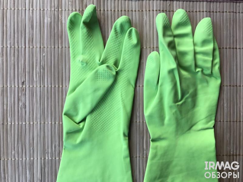 Перчатки хозяйственные резиновые Paterra Extra Комфорт [Размер S]