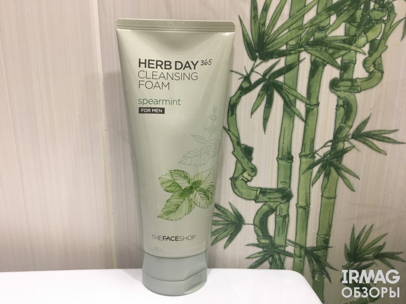 Пенка для умывания The Face Shop Herd Day Cleansing Foam Spearmint for Man (170 мл)