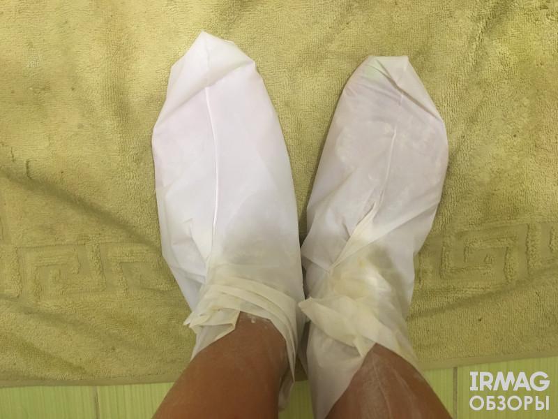 Маска для ног Cafe Mimi 2в1 Интенсивное обновление, отшелушивающая
