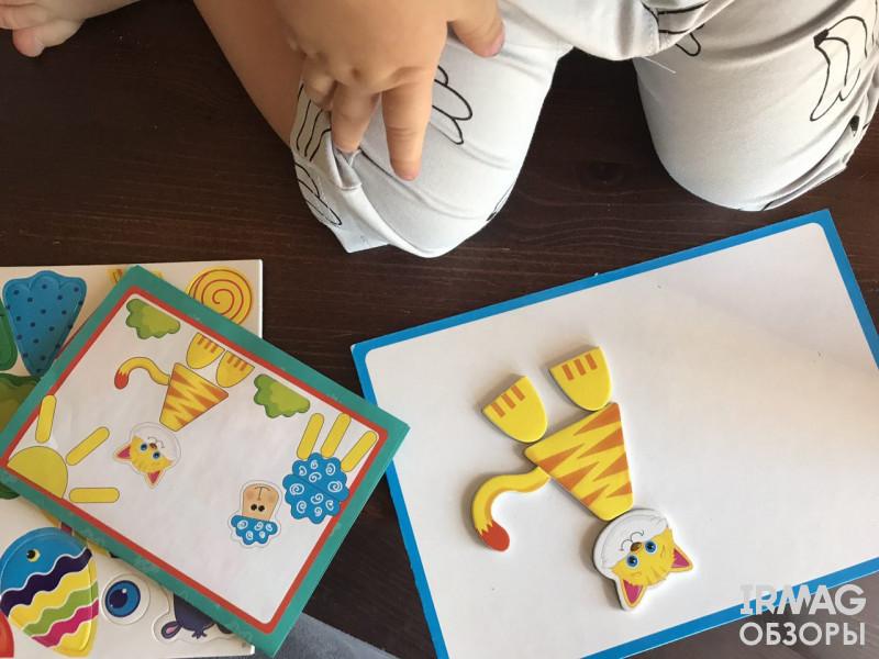 Набор для творчества Vladi Toys Магнитная мозаика Бегемотик