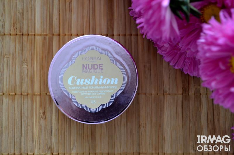 Тональный флюид L'Oreal Paris Make-up Nude Magique Cushion SPF 29 (14,6 г) [03 Ваниль]