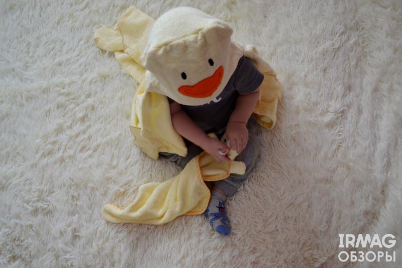 Набор для купания Bravo for Kids Мамина радость Желтый (салфетка + уголок)