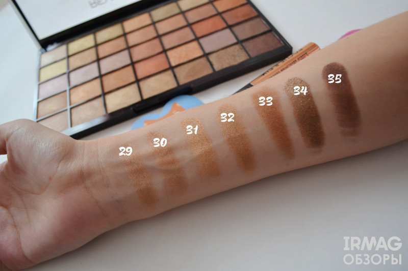 Набор для макияжа Makeup Revolution Amplified 35 Eyeshadow Palette Naked Golds Kit