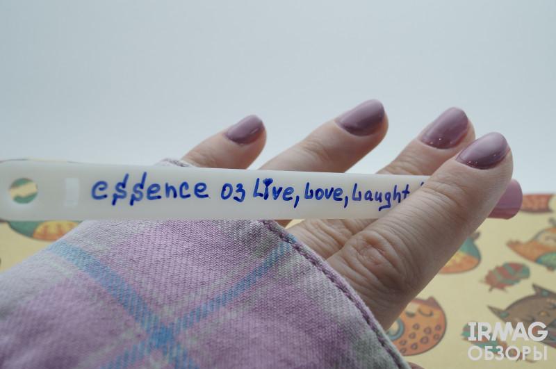 Обзор Essence из коллекции Life is a festival! 03 live, love, laugh!
