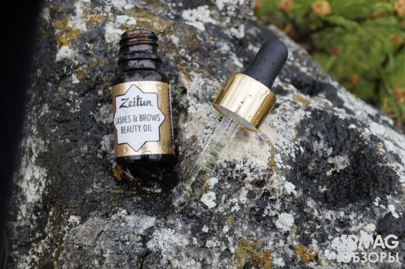 обзор на масло для ресниц и бровей Zeitun