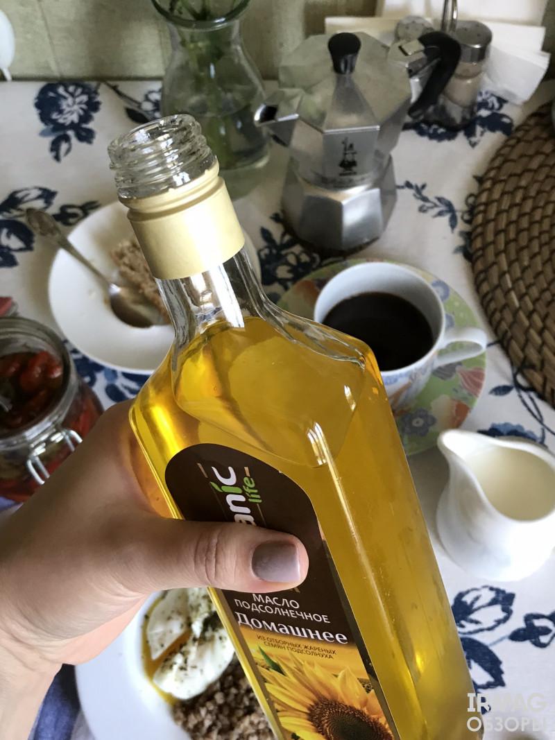 подсолнечное масло Organic Life Домашнее