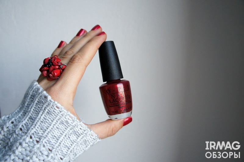 лак для ногтей opi  Big apple red, An affair in red square