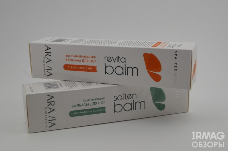 Обзор на бальзамы для ног Aravia Professional Soft Balm (смягчающий) и Aravia Professional Revita Balm (восстанавливающий)