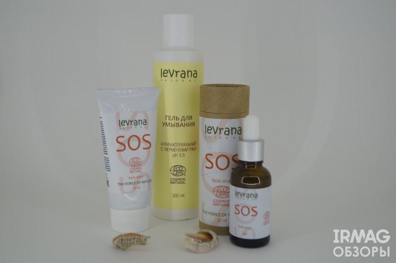 Обзор на антибактериальный гель для умывания; противовоспалительную сыворотку для лица SOS и крем для лица SOS от Levrana Natural