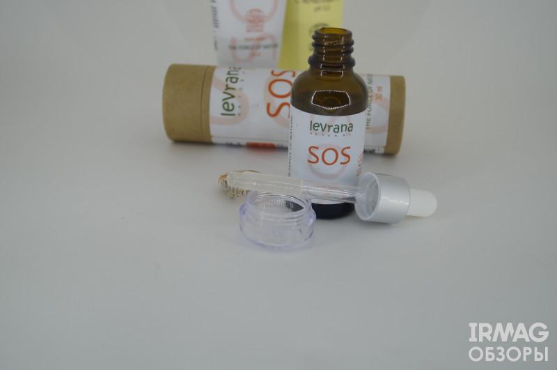Обзор на  противовоспалительную сыворотку для лица SOS от Levrana Natural