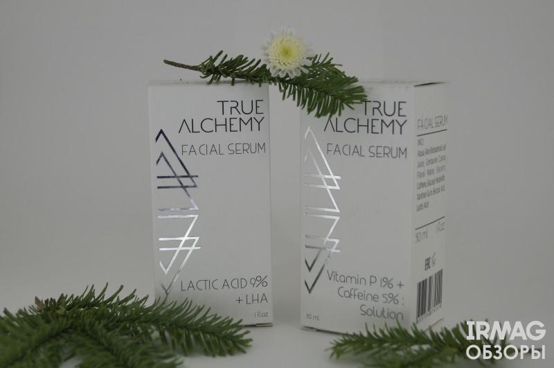 обзор на сыворотки Levrana True Alchemy Lactic Acid 9% + LHA и Vitamin P 1% + Caffeine 5%