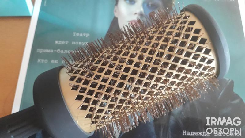 Расческа-брашинг для волос AMB Черная Металлический ворс (52 мм)