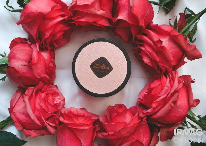 Скраб для тела Zeitun Wellness Ритуал нежности С дамасской розой и маслом персика (200 мл)