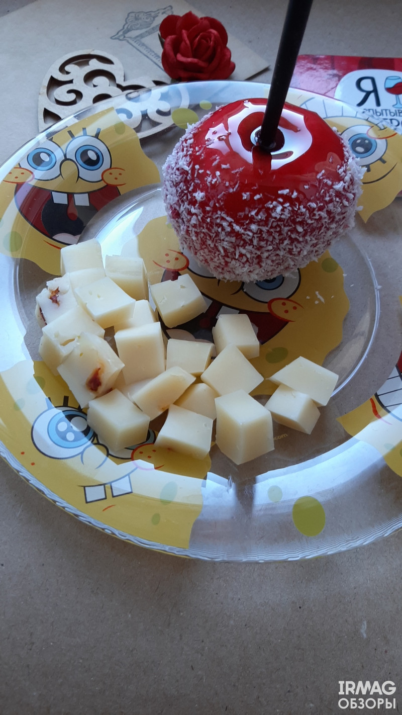 Сыр Иркутский СыроварЪ Качотта итальянский полутвердый С вялеными томатами (200 г)