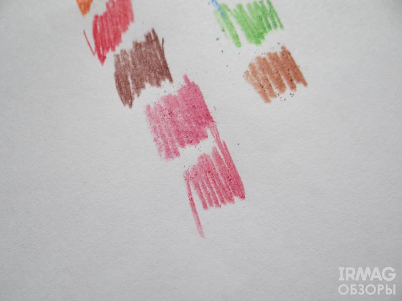 розовые близкие оттенки карандашей