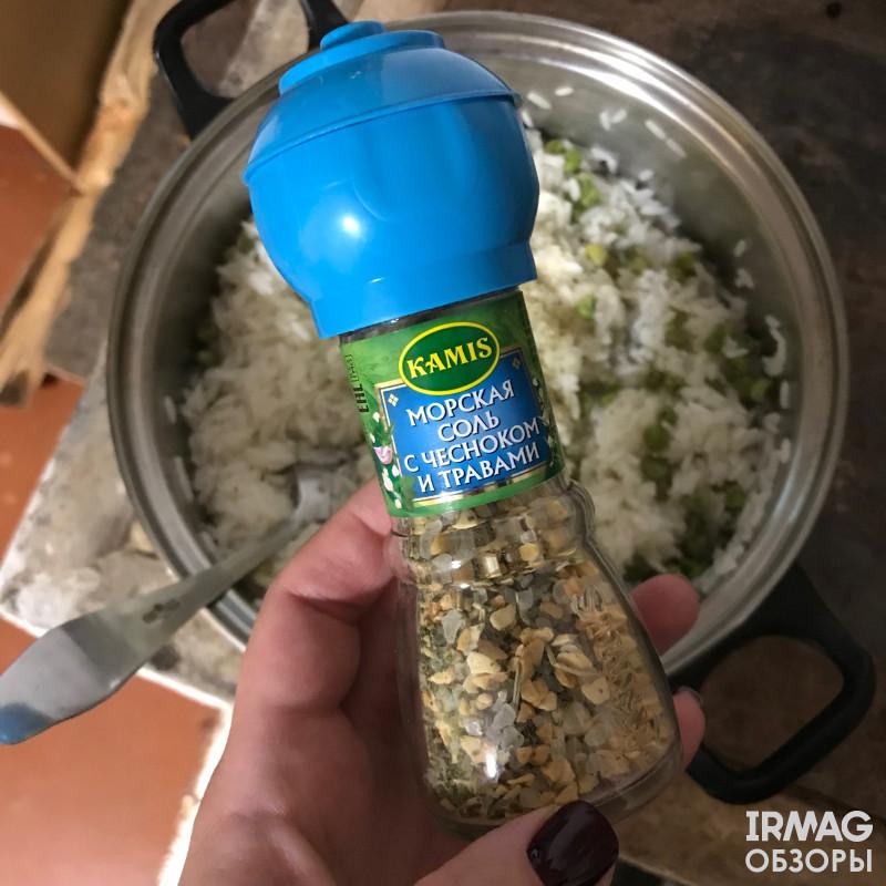 Морская соль с чесноком и травами