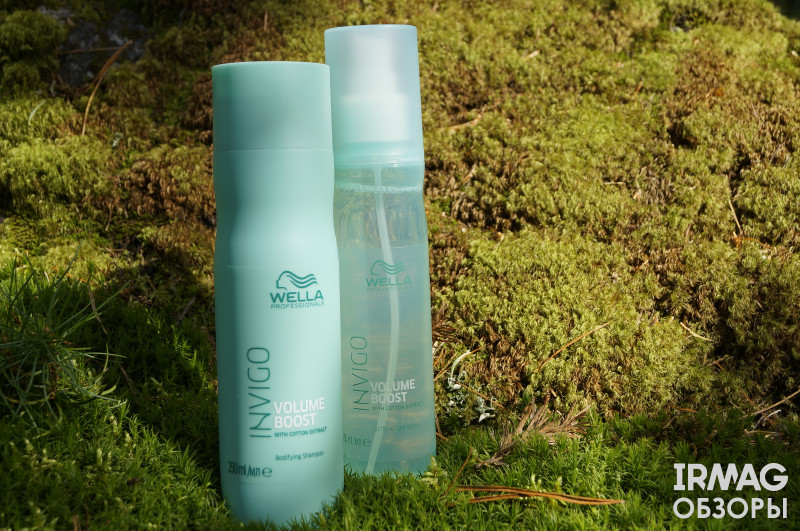 Обзор на набор подарочный Wella Invigo для придания объема (шампунь + спрей-уход для волос)