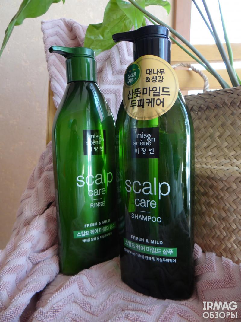 Обзор шампуня и кондиционера для волос Mise en Scene Sculp Care