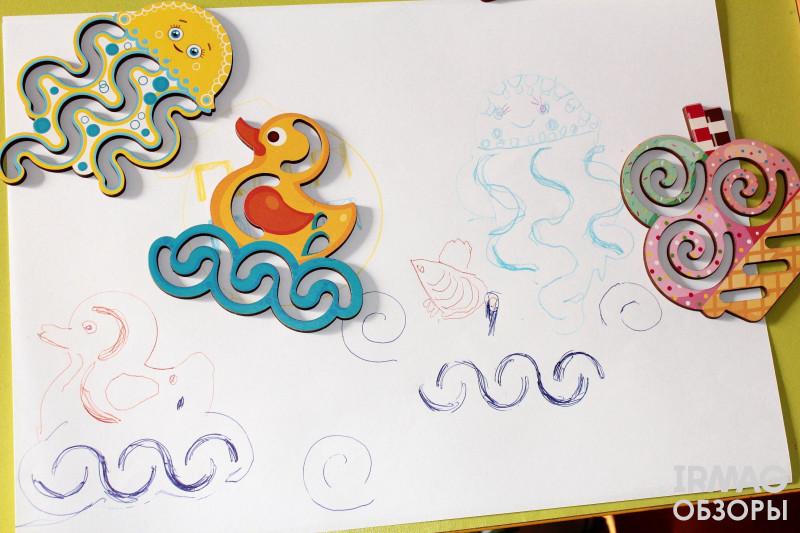 ![Линейки-трафареты для рисования WoodLandToys Детское ассорти (8 шт.)](22746)