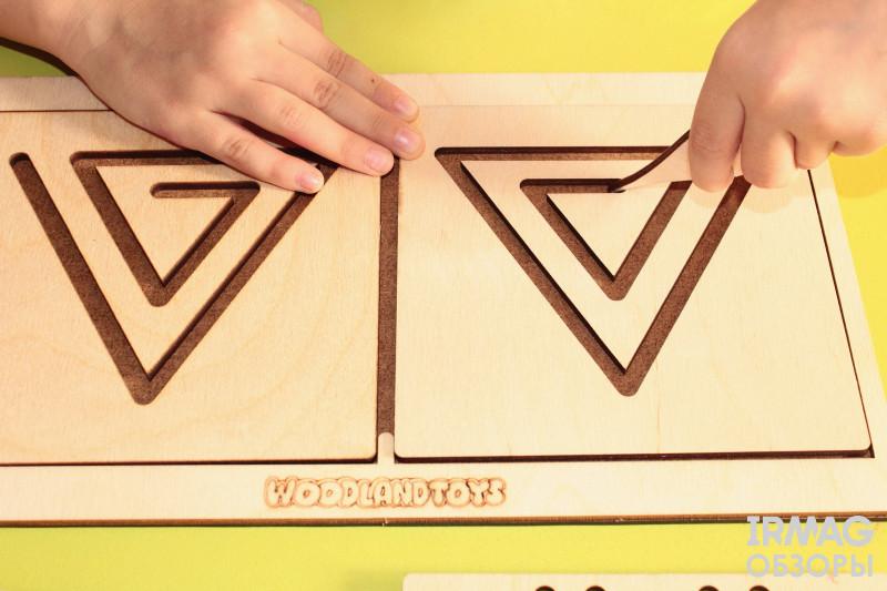 Доска межполушарная WoodLandToys Треугольник