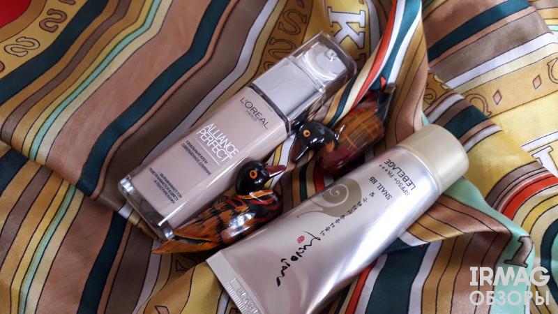 Тональный крем L'Oreal Alliance Perfect Совершенное слияние (30 мл) - N2 Ваниль BB-Крем для лица Lebelage BB Cream Heeyul Premium Snail С муцином улитки (30 мл)