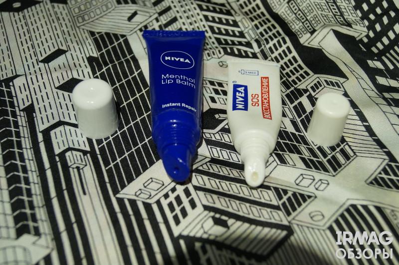 Обзор на бальзам для губ Nivea Lip Care Мгновенное восстановление с нежным ментолом (10 мл)
