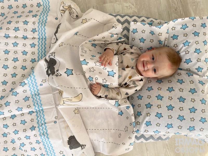 Постельное белье детское Крошкин дом Леснушки Голубой