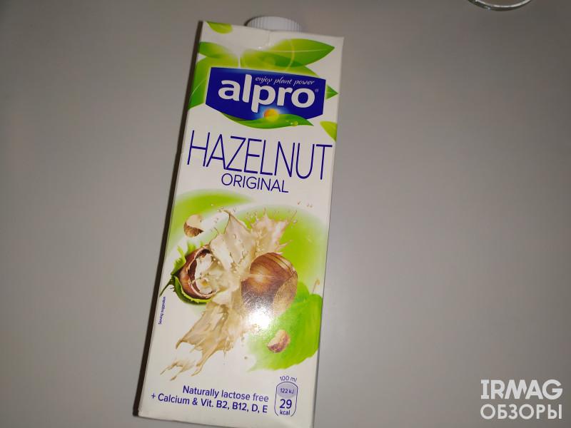 Напиток ореховый Alpro со вкусом фундука (1 л)Напиток Кешью Alpro оригинальный (1 л)