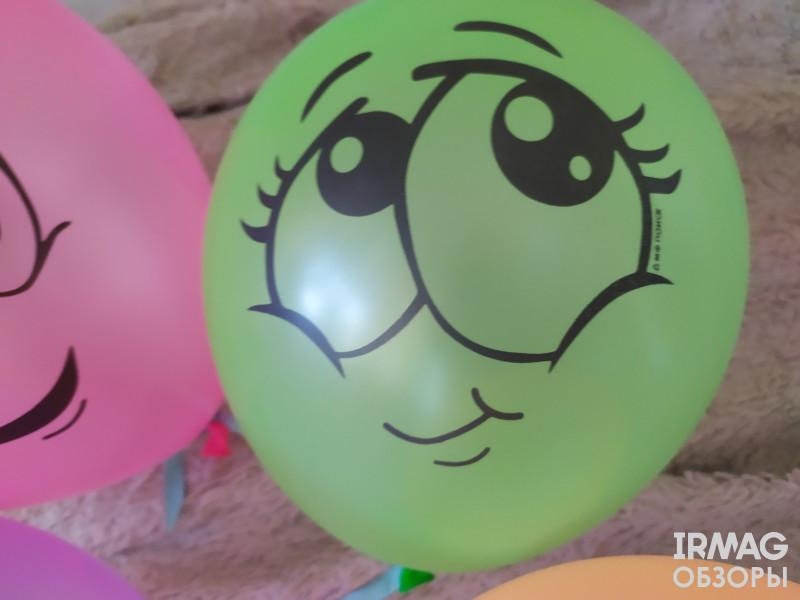 Набор шаров воздушных Latex Occidental Флуоресцентные Улыбки (10 шт.)