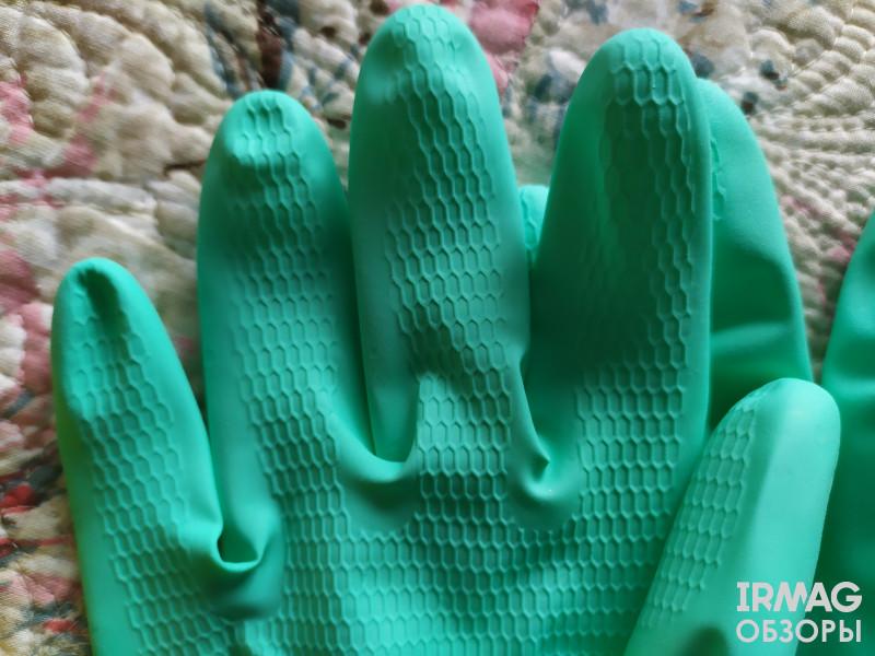 Перчатки хозяйственные Чистюля резиновые Легкие - Размер S