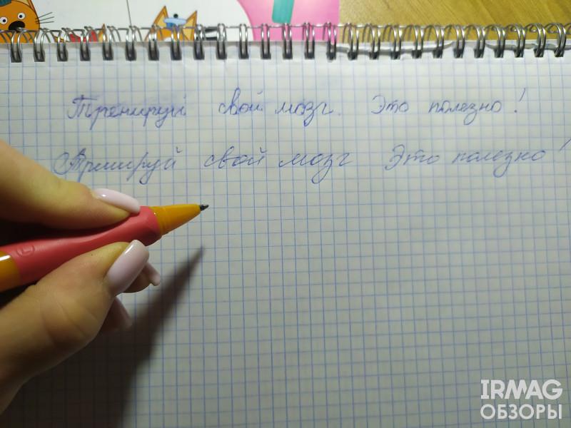 Ручка шариковая для левшей deVente Пиши-стирай Study Pen Синяя (0,7 мм)