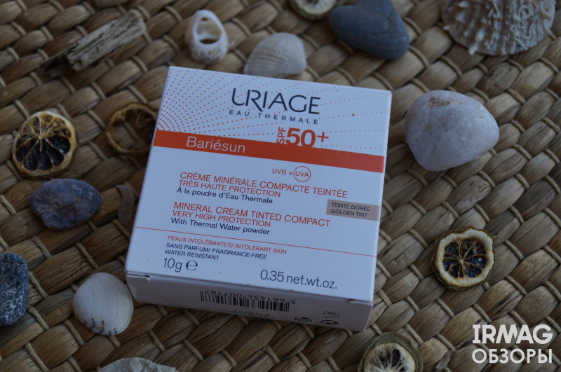 Обзор на минеральную крем-пудру Uriage Bariesun SPF50+