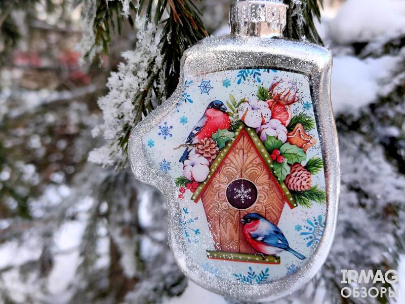 Украшение елочное Феникс Презент Варежка Снегири (9 х 6,5 см)