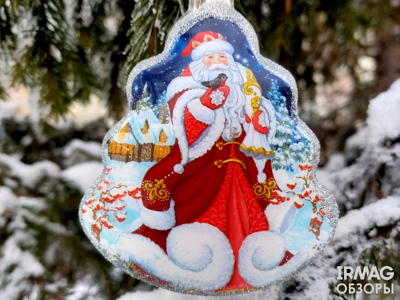 Украшение елочное Феникс Презент Елочка Дед Мороз (9,5 х 8 см)