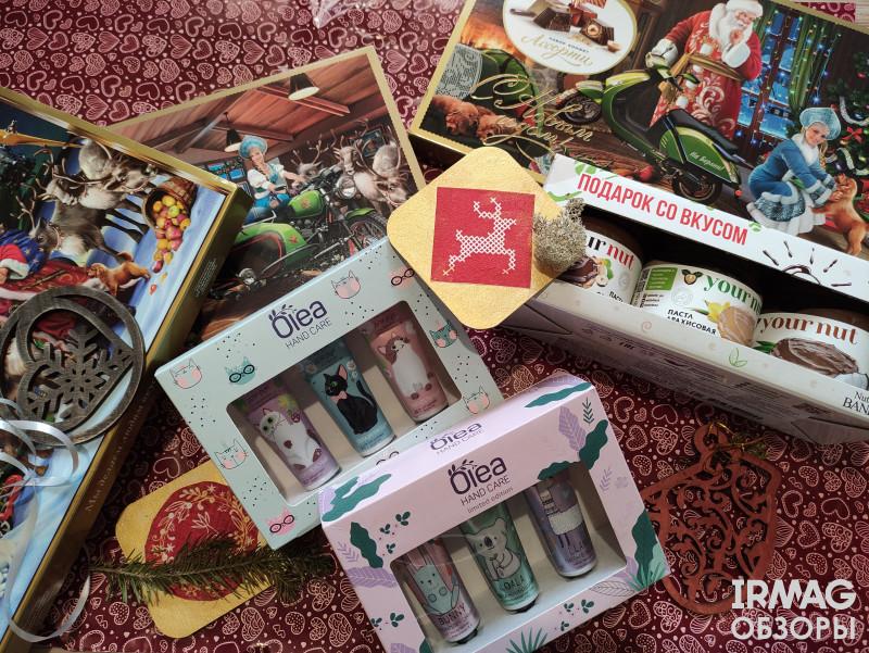 Обзор на Наборы конфет Сергиево-Посадская конфетной фабрики, подарочные наборы Olea Hand Care Limited Edition, подарочный набор Сладкоежкам №5 от Nuts Bank