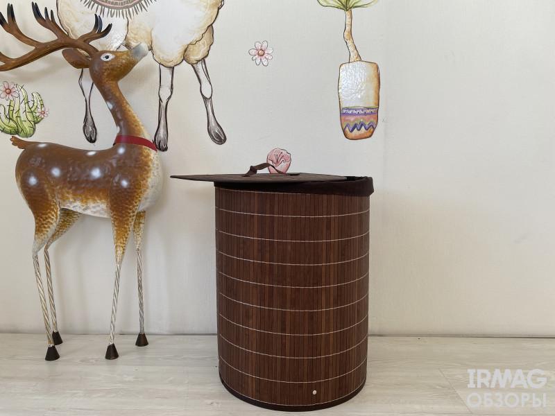 Корзина для белья Рыжий кот BLB-06-D бамбук (38 х 29 х 50 см)