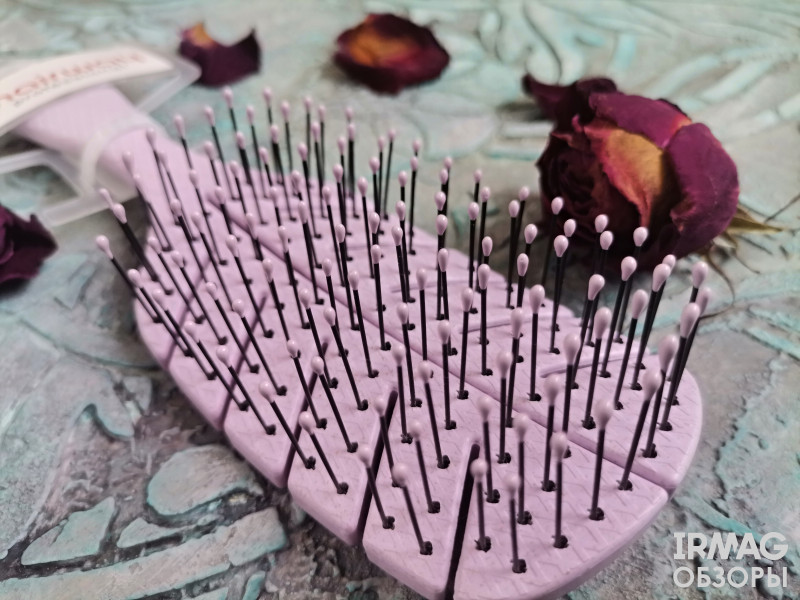 Щетка для волос Hairway Eco Wheat массажная, 8 рядов, бежевая (20 см)