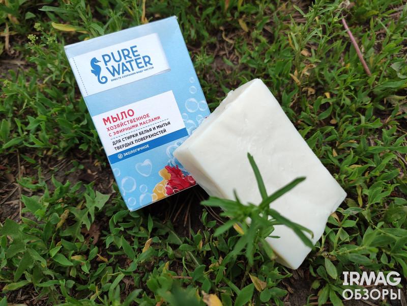 Обзор на концентрированный гель для стирки, кондиционер для белья и хозяйственное мыло Pure Water Mi&Ko