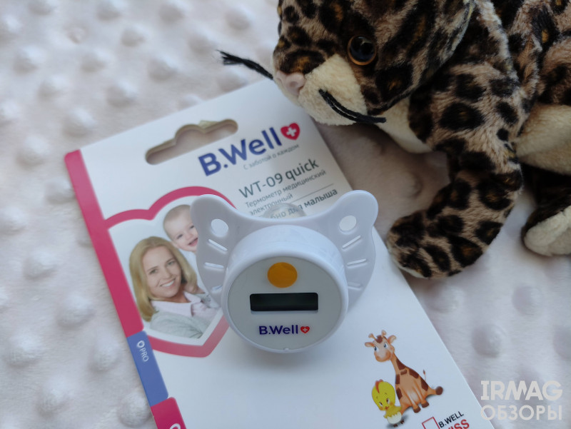 обзор на соску-термометр B.Well WT-09